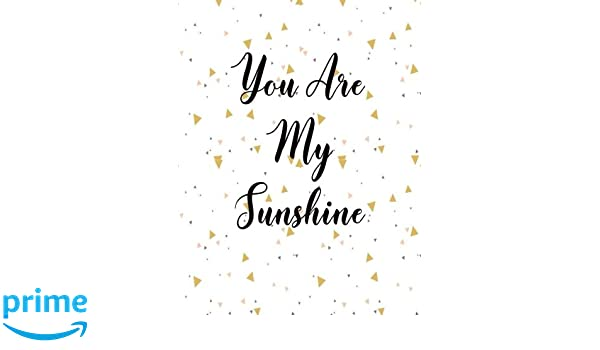 You Are My Sunshine Journal Notebook Quote Journal