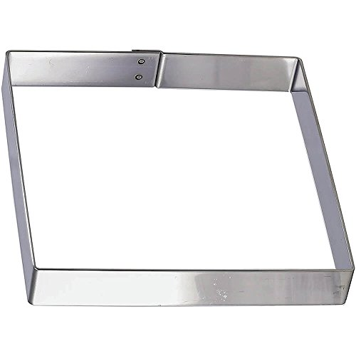 Matfer Bourgeat 371108 Square Cake Frame, Silver by Matfer Bourgeat