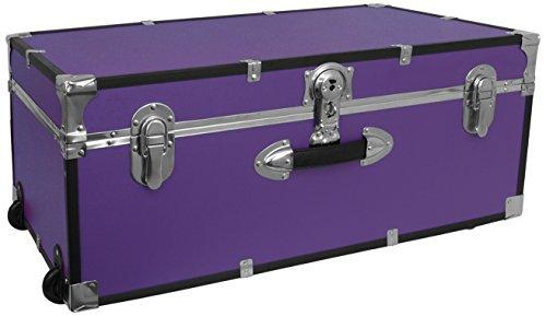 Seward Trunk Wheeled Footlocker, Purple