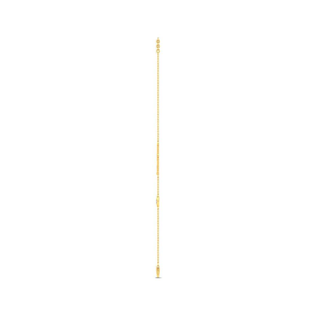 14K Yellow Gold 0.086 cttw Round-Cut-Diamond IJ| SI identification-bracelets Size 6.25 inches HallMarked