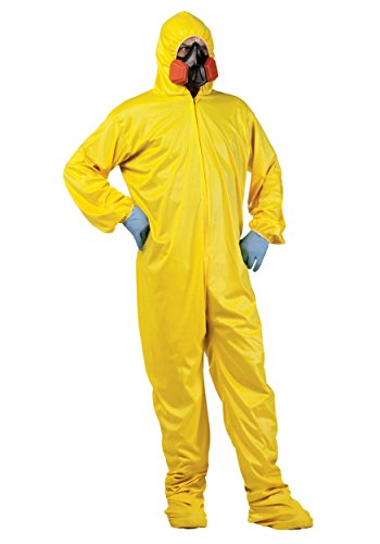Fun World Men's Hazmat Suit Adult Costume, Multi Standard