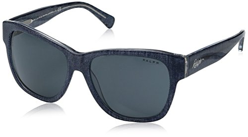 Ralph Lauren Sunglasses Women's 0ra5226 Square, Blue Denim Crystal, 56 - Ralph Blue Lauren Glasses