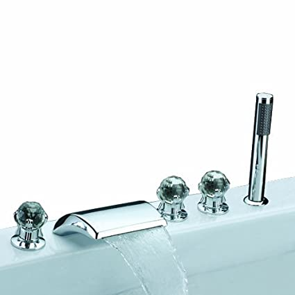 Lightinthebox Contemporary Widespread Waterfall Bath Tub Faucet With