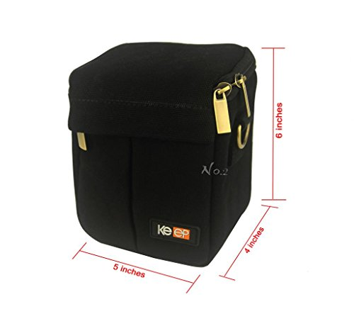 No.2 Warehouse Protective Canvas Universal Camera Case Bag For Sony nex5t, rx100, A5000, Canon eosm2, Nikon j1, j2 with 16-50mm lens or 18-55mm lens (black)+ a Piece of Clean Cloth