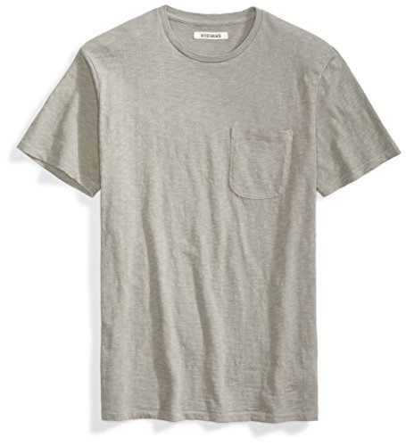 Goodthreads Men's Lightweight Slub Crewneck Pocket T-Shirt, Castle Rock/Grey, X-Large