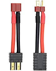Fly 2PCS RC Lipo Battery Charger Conversion Cable Adapter Wire Traxxas to Deans T Plug Connector for TRAXXAS S E Slash