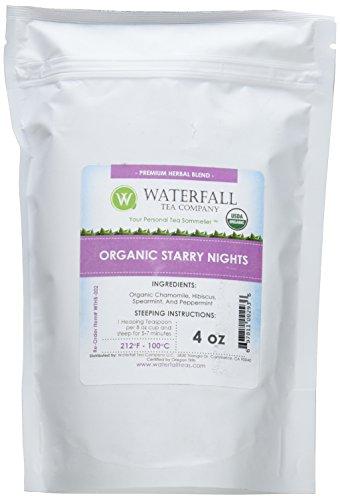 Waterfall Tea Company Organic Starry Nights Herbal Blends, 4 Ounce