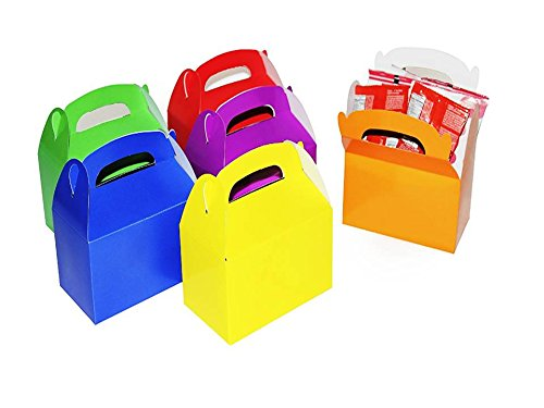 Bright Assorted Colors Treat Boxes (Pack of 12) - Play Kreative TM (Assorted)