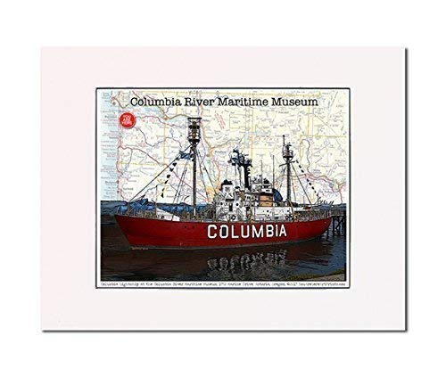 - Astoria: Columbia Light Ship at the Columbia River Maritime Museum, Astoria, Oregon, art print. Enhance your home or office. Gallery quality. Matted and ready-to-frame.