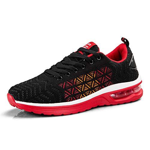 Athltiques Femmes Confort Red Course De Respirant Semelle Hommes Baskets Air Sports shmr6099 Chaussures Casual Cushion tg7qxwT
