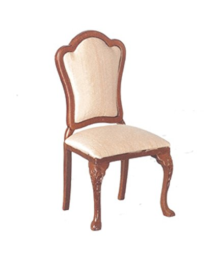 Melody Jane Dollhouse Walnut Nude Dining Side Chair JBM Miniature (English Victorian Walnut)