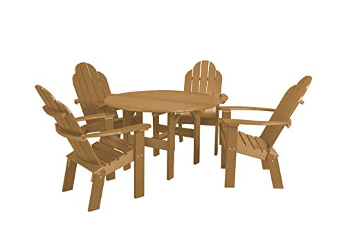 Little Cottage Company LCC-280 Classic Round Table with 4 Deck Chairs, 46