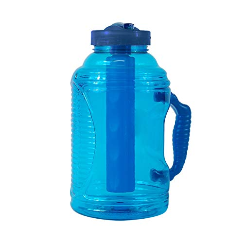 COOL GEAR 80oz Big Freeze Water Bottle with Freezer Stick and Handle ()