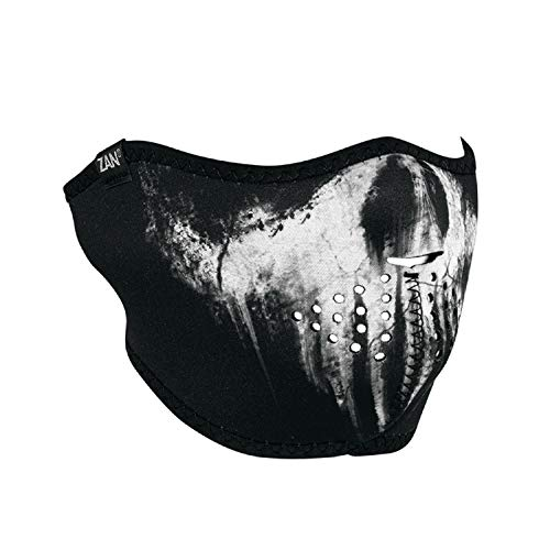 ZanHeadgear Neoprene Half Face Mask Skull Ghost ()