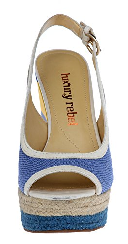 Blau Lr rubin toe peep Luxury Keilpumps Rebel blue Damen qTwpfWxXP