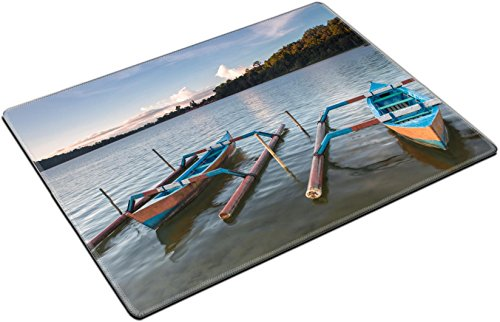 MSD Place Mat Non-Slip Natural Rubber Desk Pads design 30136969 Traditional fishing boats on a beach in Sanur on Bali Indonesia by MSD