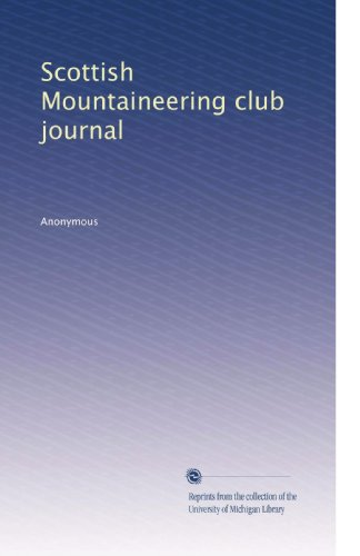 (Scottish Mountaineering club journal)