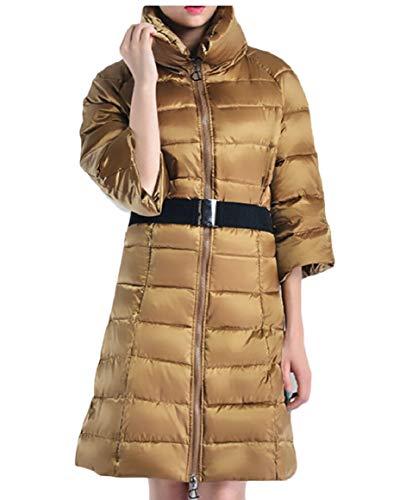 Sicurezza Con Donna Cappotto Piumini Piumino Da Caldo Inverno Cintura 4 qfAqnC