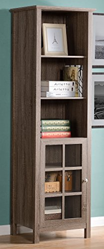 Media Pier Storage (Homestar Provence Bookcase/Media Storage Pier, 15.35x21.65x70.87
