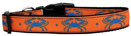 Mirage Pet Products bluee Crabs Nylon Dog Collar, Large