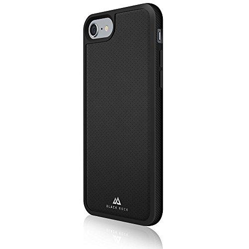 Black Rock Matte Leder Mesh Schutzhülle für Apple iPhone 7–Schwarz