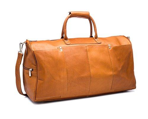 Ledonne Unisex Adult Leather Tuscan Duffel, Tan ()