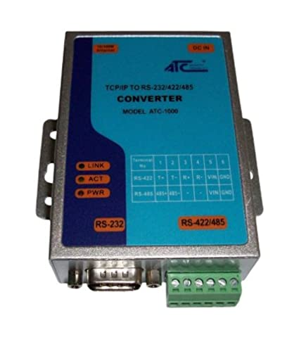Convertidor de Ethernet TCP/IP a serial RS232 RS485 RS422 EU Version