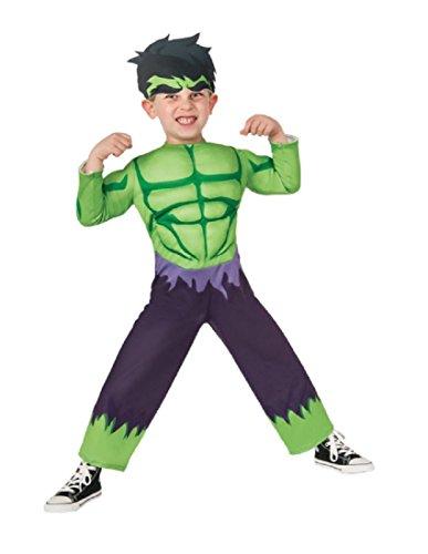 Marvel Rubie's Baby Boy's Classics Avengers Assemble Muscle Chest Hulk, Multi, (Toddler Hulk Costumes)