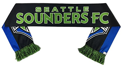 RUFFNECK MLS Seattle Sounders Fc Soccer Scarves, One Size, Black by RUFFNECK