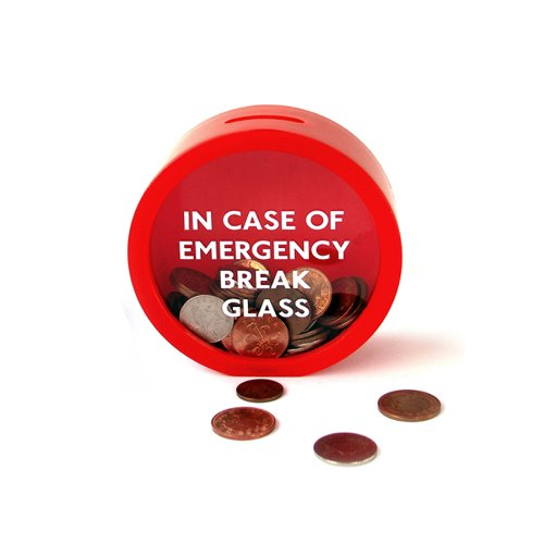 SUCK UK Emergency Money Box Break Glass Money Box