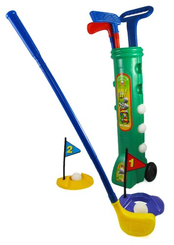 [Deluxe Golf Set for Kids with 5 Balls, 3 Clubs, 2 Tees & Golf Cart] (3 Ball Set)