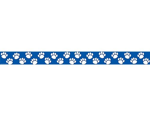Teacher Created Resources Blue with White Paw Prints Straight Border Trim (4620) (Blue Border Trim)