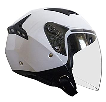 RALLOX Helmets - Casco de moto Jet Abierto Scooter Blanco Rallox 240 (S M L XL XXL