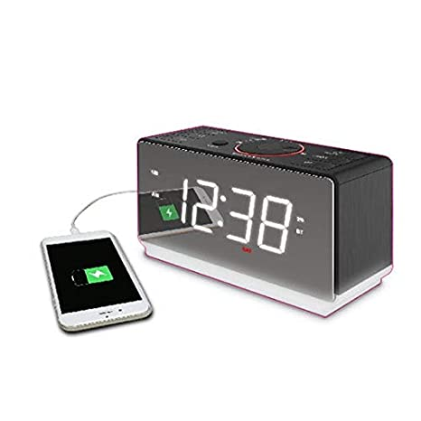 Amazon.com: ER100116 - Reloj despertador doble con pantalla ...