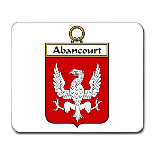 Abancourt Family Crest Coat of Arms Mouse Pad