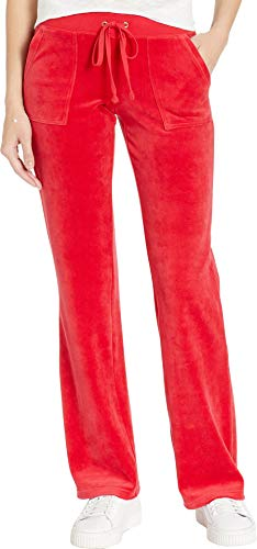 Juicy Couture Women's Del Rey Velour Pants Cordial X-Large ()