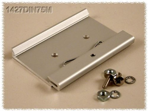 Mounting Hardware ALUM DIN CLIP 75MM FOR 35MM DIN RAILS (1 piece)