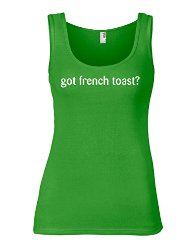 (shirtloco Women's Got French Toast Tank Top, Green Apple 2XL)