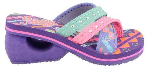 Skechers Twinkle Toes-Spinners -City Surfer Girls' Toddler-Youth Sandal 12 M US Little Kid Lavender-Multi