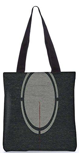 """Snoogg Grauer Kreis Minimalistisch-Einkaufstasche 13,5 X 15 In """"Einkaufstasche Dienstprogramm Trage Von Polyester Canvas"""