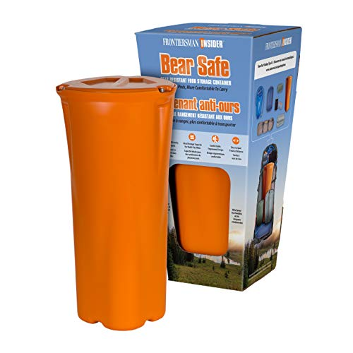 FRONTIERSMAN Bear Canister for Backpacking & Hiking - INSIDER BEAR SAFE: Lightweight Bear Proof Container, Slim Design for Easier Packing & More Comfortable to Carry with High Capacity Food Storage ()