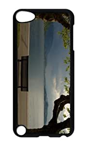 Ipod 5 Case,MOKSHOP Adorable Cloudy Park Bench Hard Case Protective Shell Cell Phone Cover For Ipod 5 - PC Black
