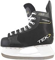 PowerTek V3.0 Recreational Men's Ice Hockey Skates, Steel Blades, Sizes 6.0-