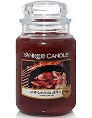 Yankee Candle Świeca zapachowa w szkle (duża) | Crisp Campfire Apples | czas palenia do 150 godzin