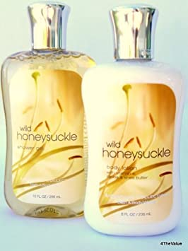 Bath and Body Works, Shower Gel and Body Lotion Gift Set WILD HONEYSUCKLE