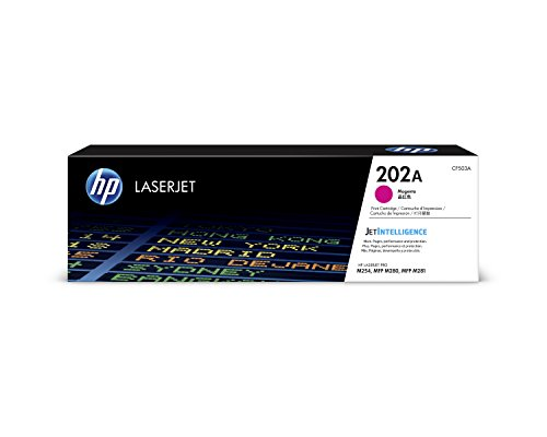 HP 202A (CF503A) Magenta Toner Cartridge for HP LaserJet Pro M254 M281cdw M281dw (Best Soho Laser Printer)