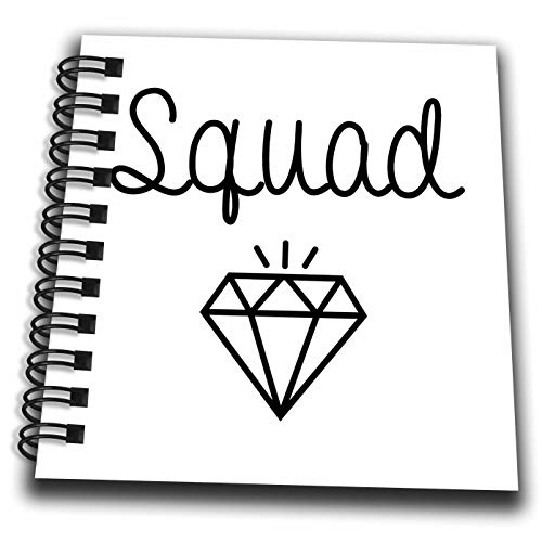 3dRose Tory Anne Collections Quotes - Bachelorette Party Bridesmaid T Shirt Tank Top Diamond Squad - Mini Notepad 4 x 4 inch (db_292529_3)