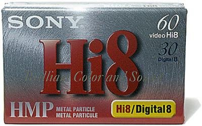 Sony Hi8/Digital8 Metal Particle Video Cassette