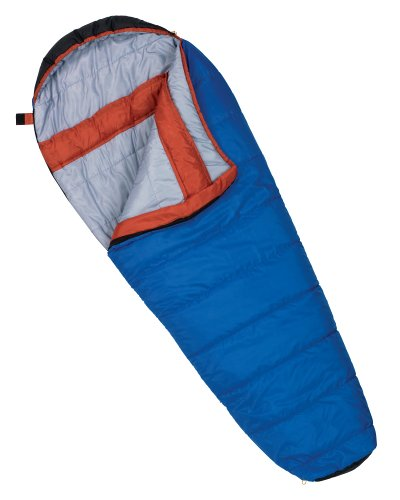 Wenzel Santa Fe 20-Degree Mummy Sleeping Bag (Blue/Orange), Outdoor Stuffs