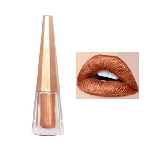 - Shiny Matt Lip Gloss Waterproof for Girls, Iuhan Women's Shiny Matte Lip Gloss Lipstick Waterproof Pigment Brown Nude Long Lasting Liquid Lipstick Makeup (C)